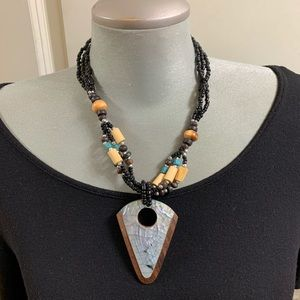 Mother of pearl seed bead necklace